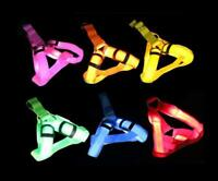 RECHARGEABLE HARNESS LED Light GLOW Dog Pet Safety Strap Belt Collar MICRO USB