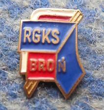 BRON RADOM POLAND FOOTBALL CYCLING BOXING TENNIS ARCHERY 1980's GOLD PIN BADGE
