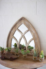 Gothic Arch Cottage Chic Shabby Distressed Finish Victorian Short Church Mirror
