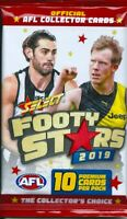 2019 afl select footy stars 5x single sealed packets-in stock