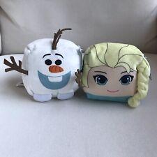 Cubd Collectibles Disney Frozen Elsa & Olaf Stuffed Toys Set Of 2