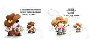 Stamping Bella COWBOY + COWGIRL SQUIDGY Stamp Sets Squidgies Wild West Rope Hats