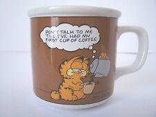 Enesco 1978 Garfield, Jim Davis, Don't Talk To Me 'Till I've Had My First Cup