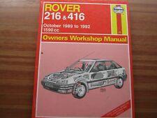 Haynes Owners workshop Manual - Rover 216 & 416 number 1830