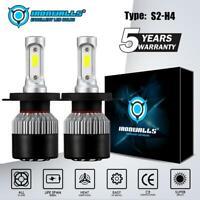 2X H4 COB LED Car Headlight Conversion Kit Bulb 1800W 270000LM White Power 6000K
