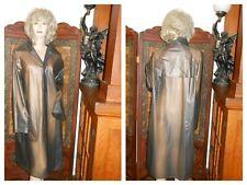Vtg M/L See Thru Smokey Gray pvc vinyl Raincoat Trench Coat vinyl rain jacket