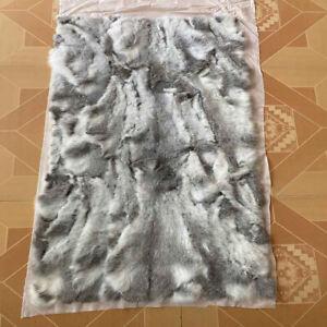 Real Rabbit Fur Throw Blanket Plate Rabbit Skin Fur Rug Genuine Leather Pelt