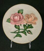 THE ROSES OF CAPODIMONTE Ltd  Ed Plate Franklin Mint Heirloom Bisque Porcelain