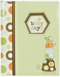 Green and Brown Turtle 'Baby Days' Baby Memory Book for Newborns, 60 pgs, 9'' W