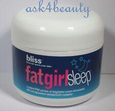 Bliss FatGirlSleep™ Skin Soothing Night Cream 2 oz/60ml Brand New
