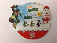 Kinder surprise TMNT Teenage Ninja Turtles Kinderino PAH Display Carte de la Chine RARE