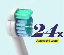 24 x Ersatzbürstenköpfe für Philips Sonicare, Sensiflex, Aufsteckbürsten HX2012