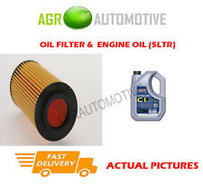 PETROL OIL FILTER + C1 5W30 ENGINE OIL FOR VOLVO S40 2.5 220 BHP 2004-08