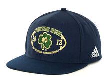 b7a328491e0 Notre Dame Fighting Irish adidas NCAA 2013 BCS Championship Snapback Cap Hat
