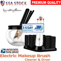 NEW Electric Makeup Cosmetic Brushes Washing Cleaner and Dryer Machine Tool Kit