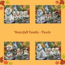 Scenic Waterfall Jigsaw Puzzle with Photo Tin, Dogs, Cats, Pet Photo Kid Toy