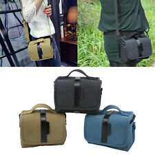 Vintage Durable Canvas Shoulder Bag DSLR SLR Camera Messenger Bag For Sony Nikon