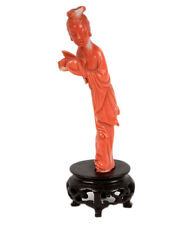 China 20. Jh. Korallenfigur - A Chinese Salmon Red Coral Figure - Chinois Cinese