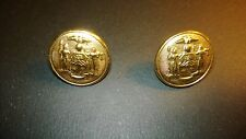 New York State Vintage Eisen Usa Golden Tone Uniform Buttons 15mm (2)
