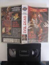 Evil dead de Sam Raimi avec Bruce Campbell, VHS, Horreur, RARE!!!