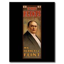 "*Postcard-""The Flints/Herbert L. Flint"" ...-Popular Hypnotist of His Era- (B516)"