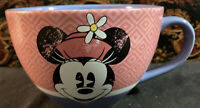 Minnie Mouse Cappuccino Mug Large Retired Disney Store Cup Pink Distressed