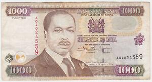 Kenya P 40 e - 1000 Shillings 2002 - VF