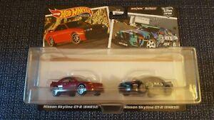 Hot Wheels 2021 Car Culture Nissan Skyline GT-R BNR32 2-pack, Real Riders, HKS