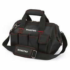 """WORKPRO 12""""Storage Tool Bag Backpack Top Strap Thicken Multifuntional Heavy Duty"""
