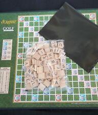 100 Wood Tiles Golf Scrabble Game Letters Word List Birdie Eagle