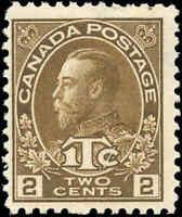 Mint Canada 2c+1c 1916 Scott #MR4i War Tax Stamp Hinged