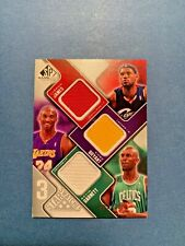 2009-10 UD SP GU LEBRON JAMES- KOBE BRYANT - GARNETT  # 062/299 3 STAR SWATCHES