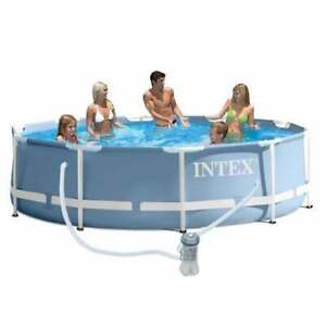 Intex 12ft x 30 inch deep Round Prism Pool Set Including Filter Pump - 26712