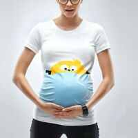 Easter Women Maternity Short Sleeve Cartoon Egg Tops T-shirt Pregnancy Clothes