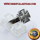 anello croce cavalieri dei templari in argento