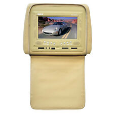 """Pyle PL72HRTN Adjustable Headrest 7"""" LCD Monitor W/ Cover (Tan)"""