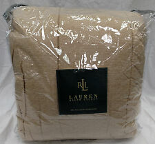 New Gorgeous Ralph Lauren Tan Weave Full / Queen Comforter 300 Thread Count