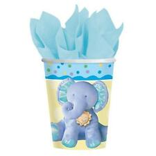 Amscan 8 Pk BLUE TEENY TINY BOY New Baby Shower 1st Birthday Paper Drinking Cups