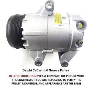 Chevrolet Malibu Pontiac G6 3.5L   OEM  Delfi Delco CVC AC Compressor  6 Groove