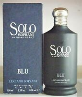 Luciano Soprani Solo Blu Perfume EDT 3.4 oz 100ml Spray New In Retail Box