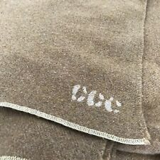 Civilian Conservation Corps Wool Blanket Patched