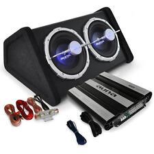 CAR AUDIO HIFI SYSTEM SUBWOOFER AMPLIFIER AMP 4000W SET TWIN BASS SPEAKER LIGHT