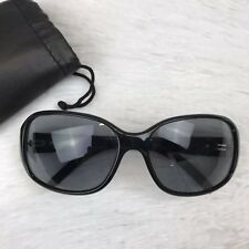 8fa2d4c4c0386 Michael Michael Kors Womens M2610S 001 Black Oval Frame Sunglasses with Case