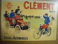 CARTOLINA NOS VIEILLES AFFICHES CYCLES & AUTOMOBILES CLEMENT PARIS -VA 4 ( S10 )