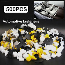 8D7D 500PCS Rivet Fasteners Door Panel Mixed Car Bumper Clips Plastic