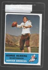 1962 Fleer Football #44 George Herring Broncos 11270