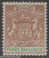 RHODESIA - 1894 3s. Brown and Green MM / MH