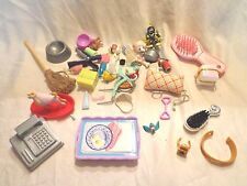 Various Doll Accessories Pillow Cash Register Dog Bowls Serving Tray Toys