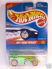 HOT WHEELS #310 HOT HUBS SERIES SHADOW JET GL.GREEN