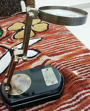 SOLID BRASS MAGNIFYING GLASS WITH BASE STAND REPLICA GIFT ITEMS